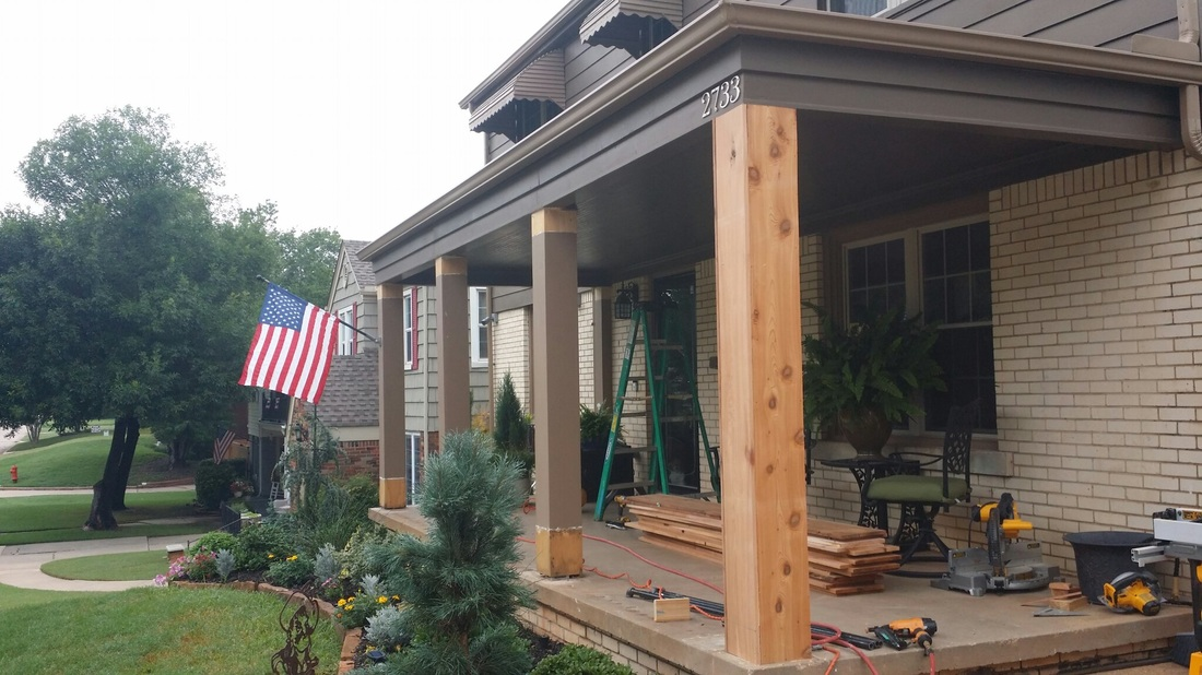 Image of: Simple Cedar Porch Columns