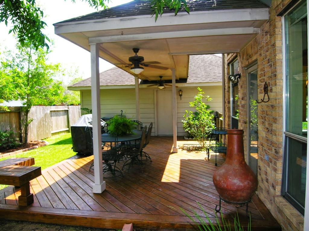Image of: Simple Covered Back Porch Ideas