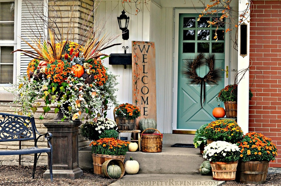 Image of: Simple Front Porch Decorating