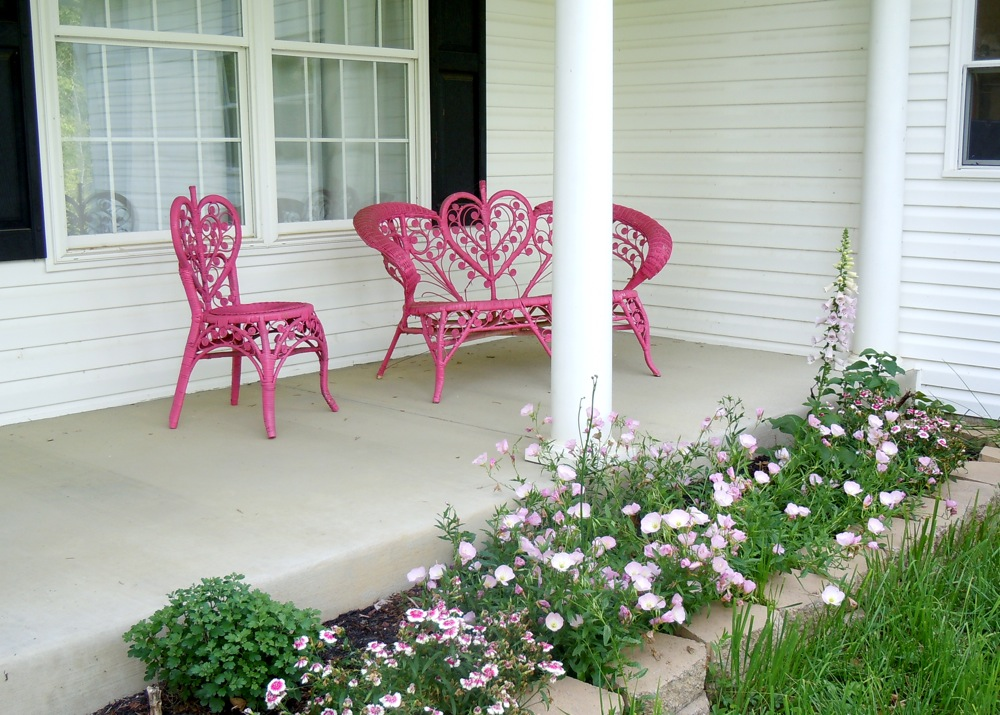 Image of: Simple Front Porch Flowers