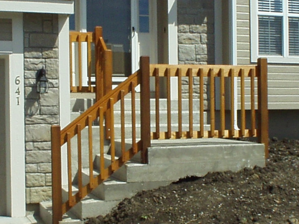 Image of: Simple Front Porch Railing Kit