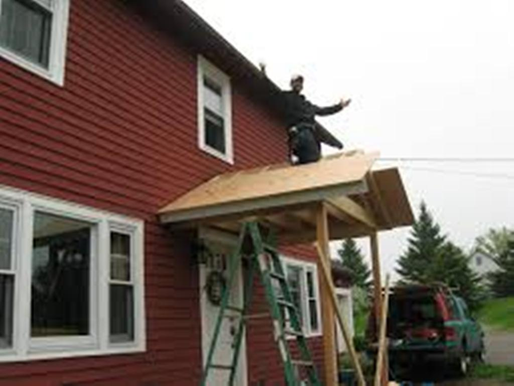 Image of: Simple Porch Roof Framing