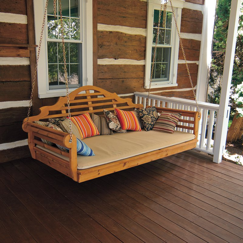 Image of: Small Bed Porch Swing