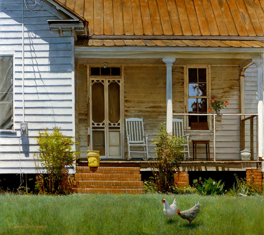 Image of: Small Country Porch