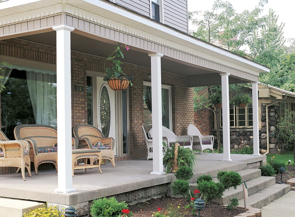 Image of: Square Fiberglass Porch Columns
