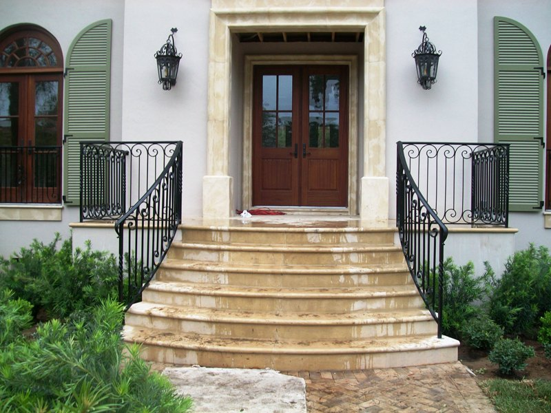Image of: Stair Iron Porch Railing