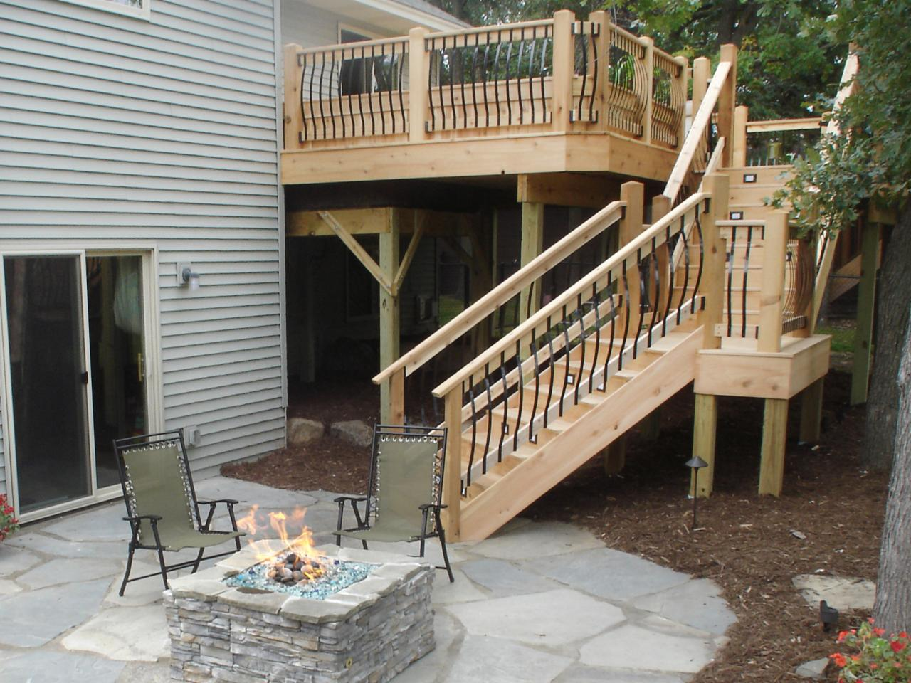 Image of: Stairs And Handrails For Porch Steps