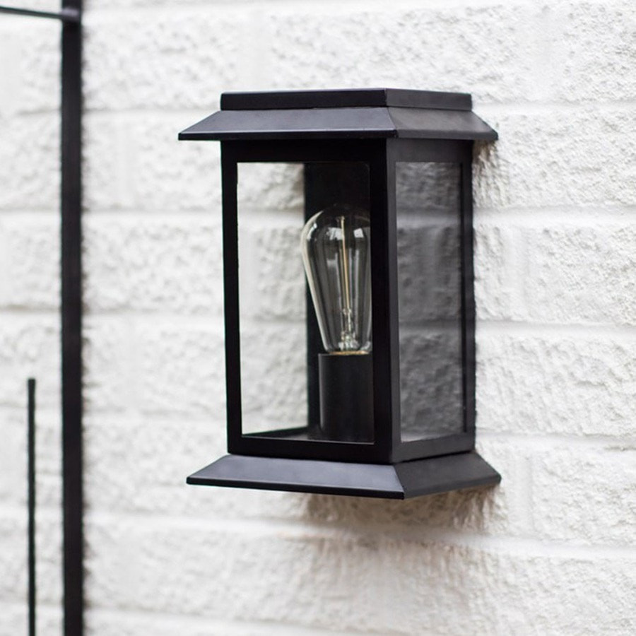 String Chain Black Porch Light