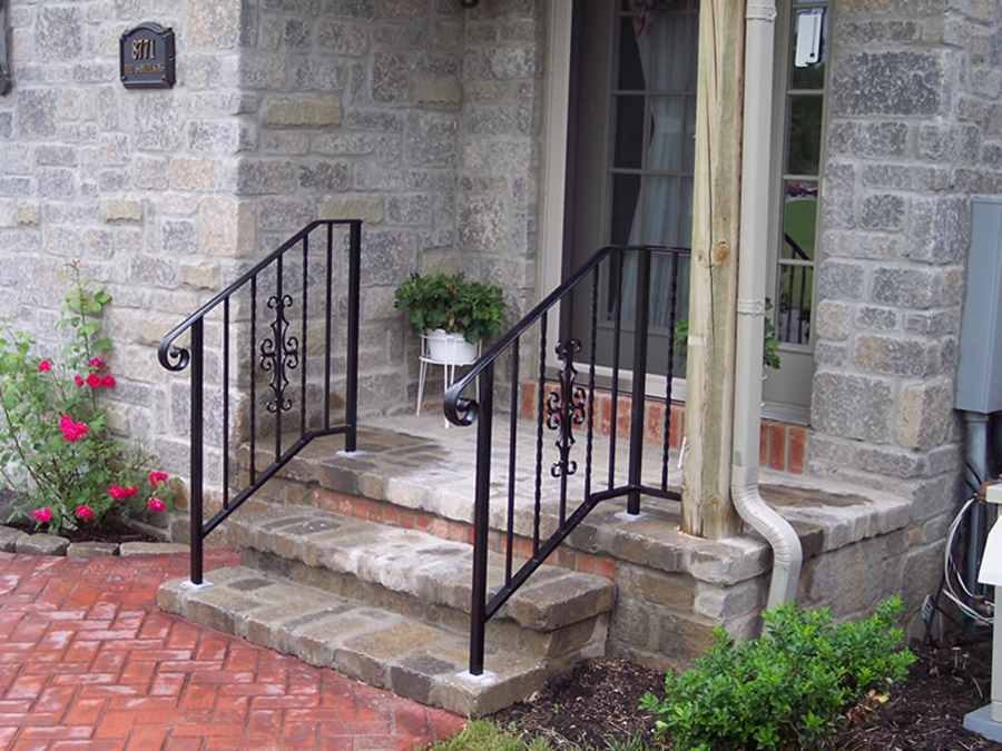 Image of: Stylish Aluminum Porch Railings