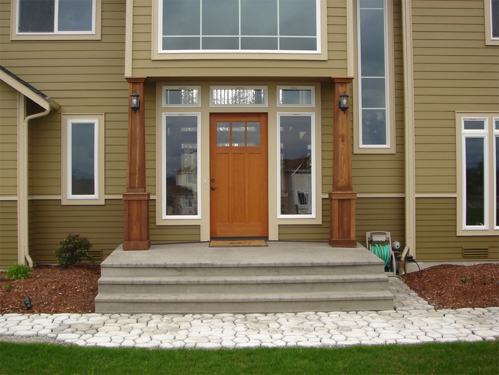 Image of: Stylish Cedar Porch Columns