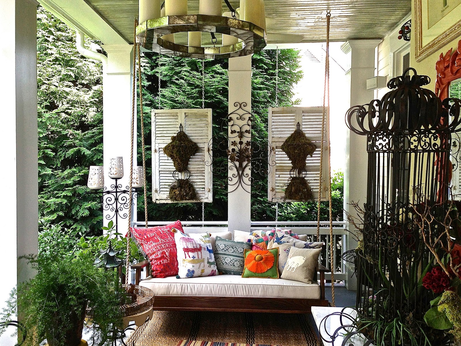 Image of: Stylish Front Porch Swings