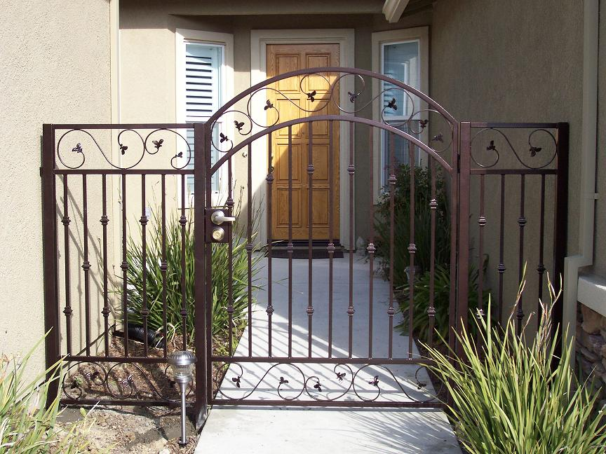 Stylish Gate for Front Porch