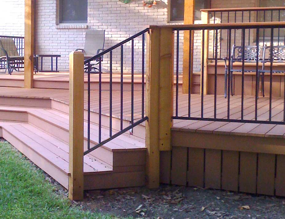 Image of: Stylish Metal Porch Railings