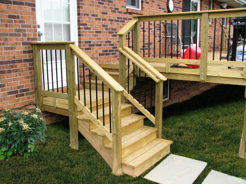 Image of: The Handrails For Porch Steps