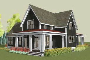 Image of: Tips Farmhouse Plans Wrap Around Porch