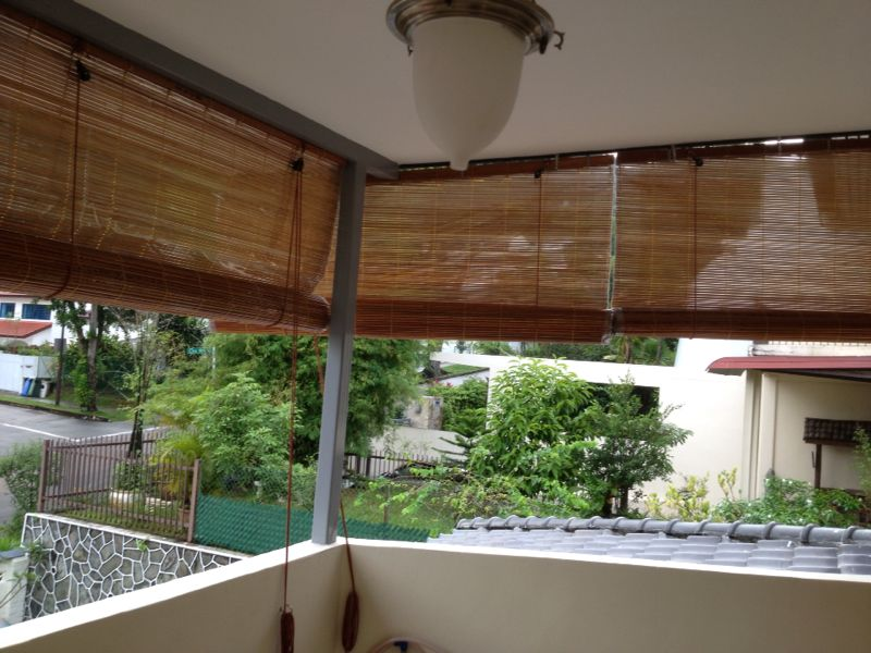 Image of: Top Bamboo Porch Shades Design