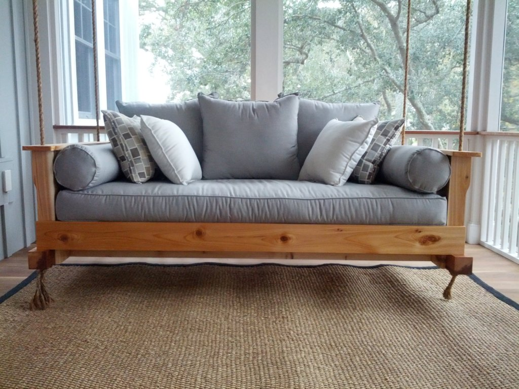 Image of: Top Diy Porch Swing Bed