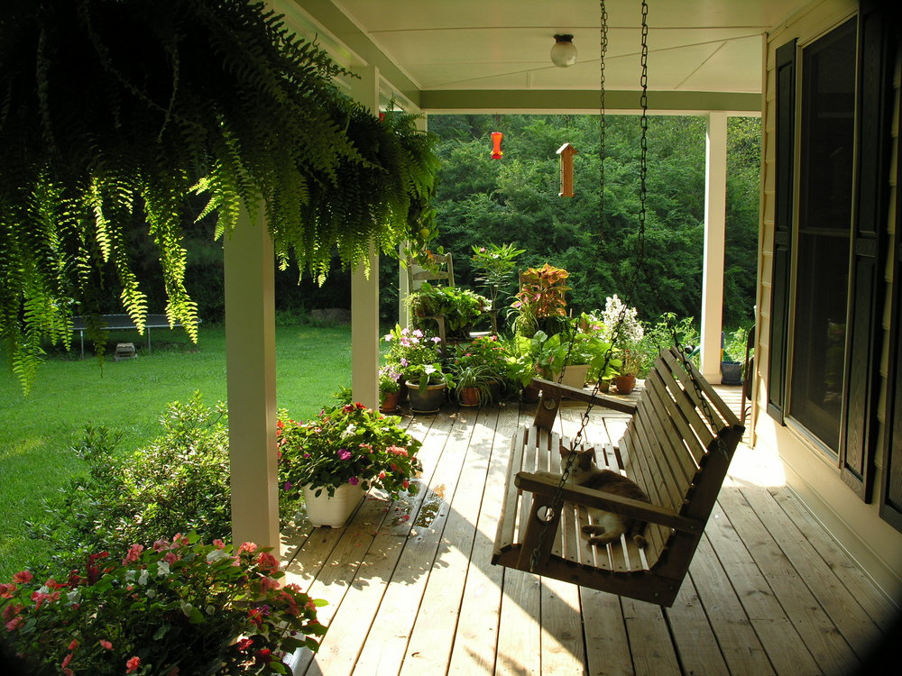 Image of: Top Front Porch Swings