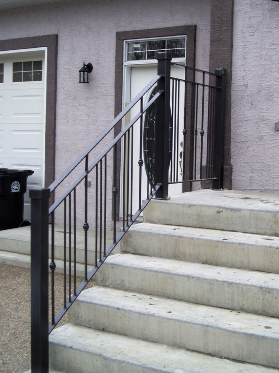 Image of: Top Metal Porch Railings
