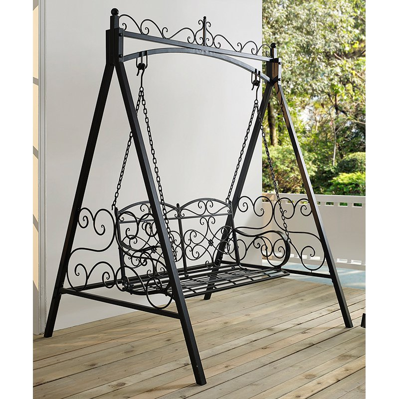 Image of: Unique Metal Porch Swings