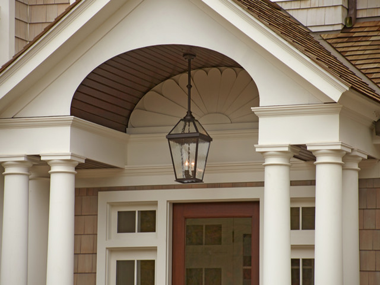 Image of: Vintage Brushed Nickel Porch Lights