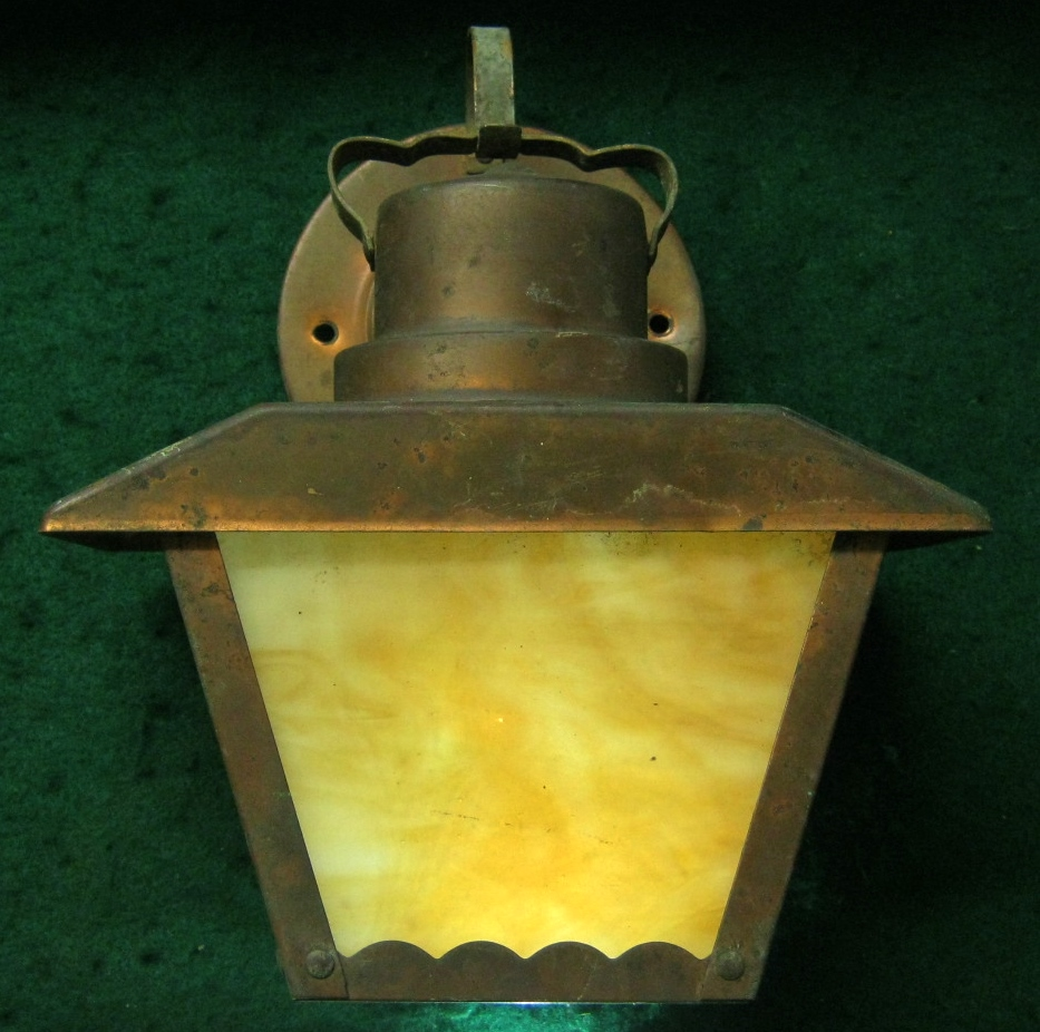Image of: Vintage Copper Porch Light