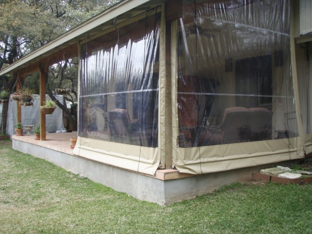 Image of: Vinyl Porch Enclosures Curtain