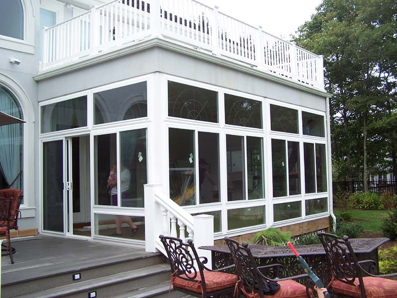 Image of: Vinyl Porch Enclosures Kits