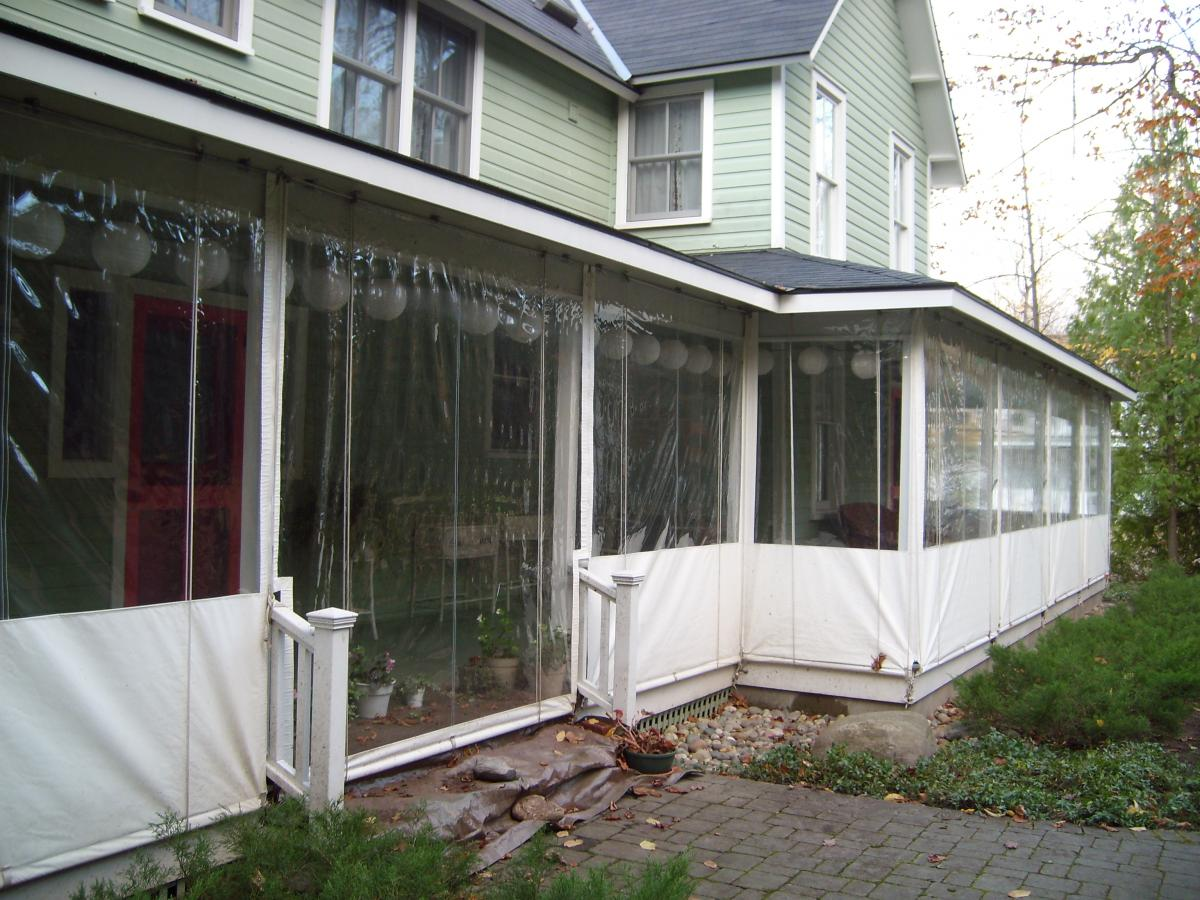 Image of: Vinyl Porch Enclosures White