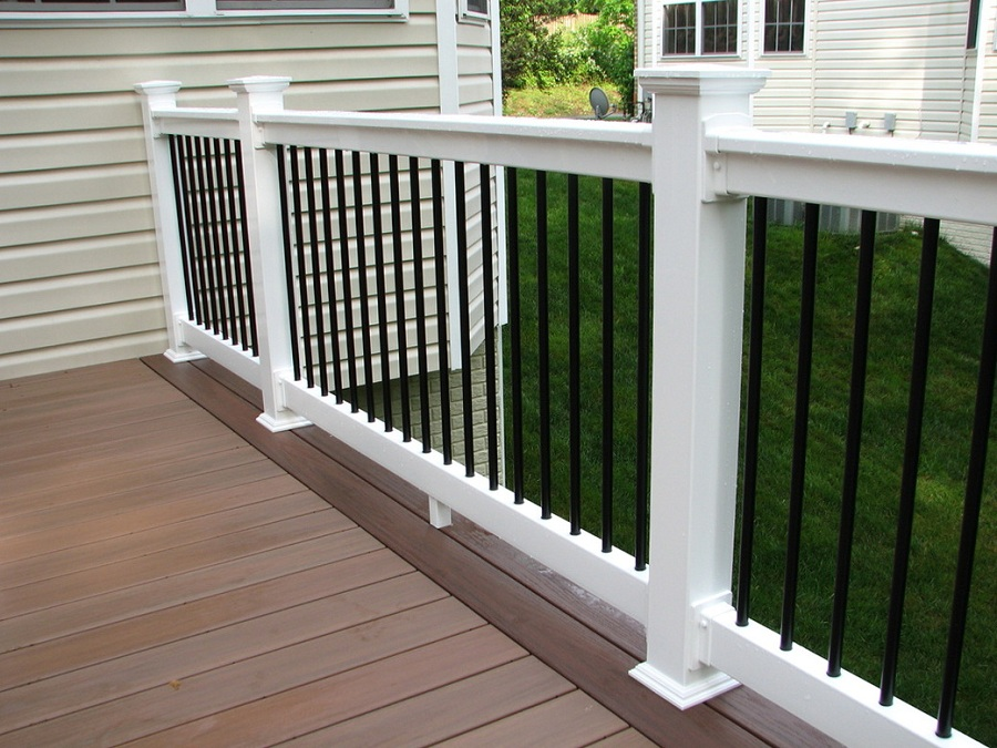 Image of: White Front Porch Railing Kit