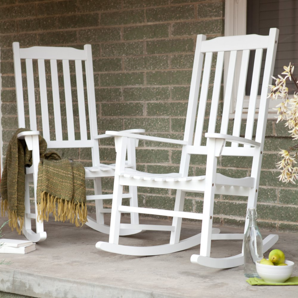 Image of: White Front Porch Rocking Chairs