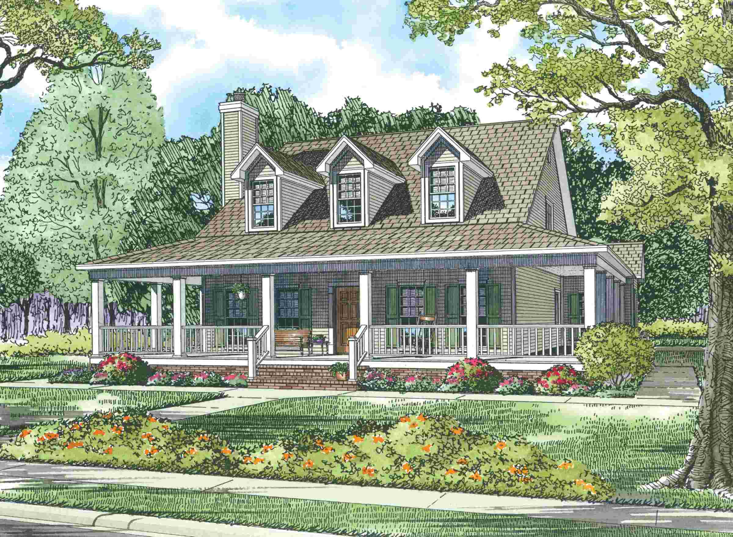 Image of: Wonderful Farmhouse Plans Wrap Around Porch