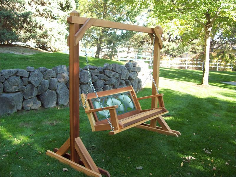 Image of: Wood And Metal Porch Swings