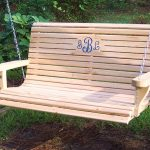 Wooden Cypress Porch Swing
