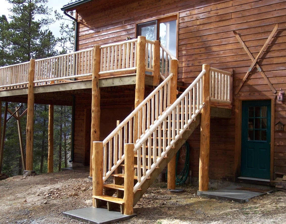 Image of: Wooden Handrails For Porch Steps