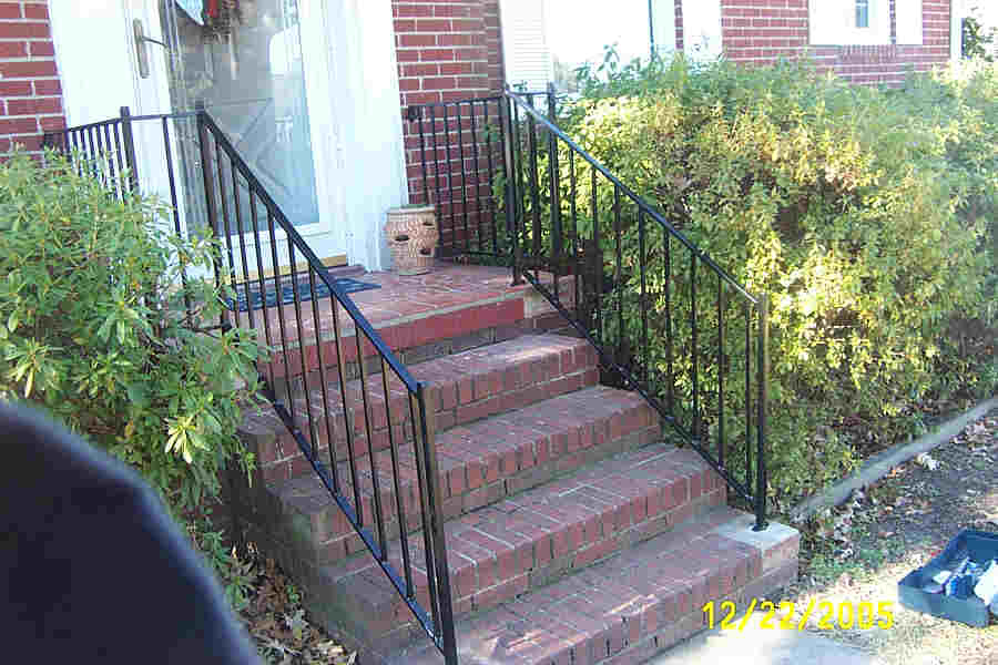 Image of: Wrought Iron Porch Railing