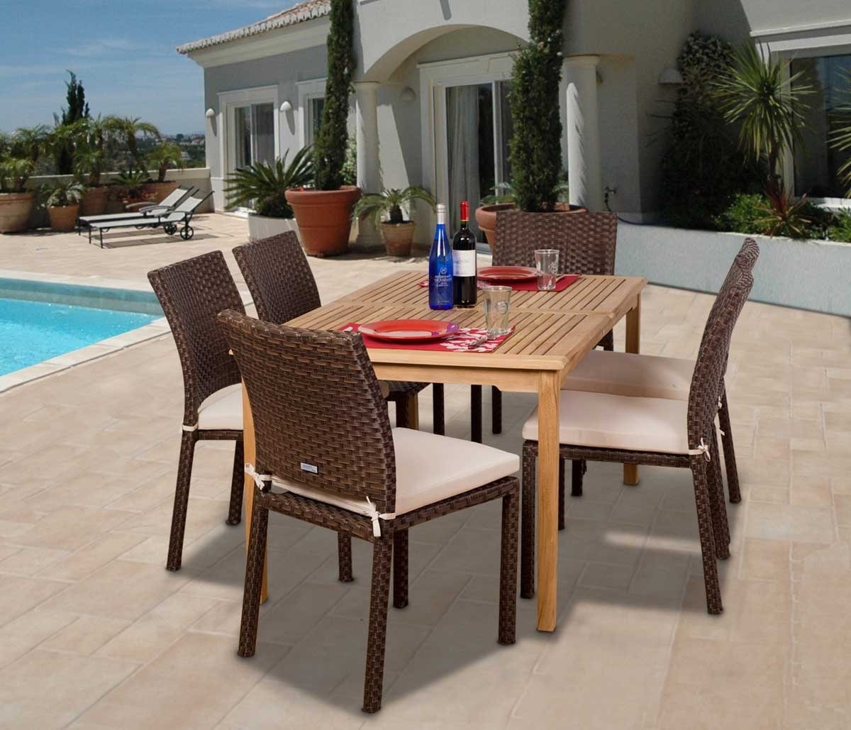Image of: Affordable Outdoor Furniture 10 Best Dining Sets Under 1500 In Modern Teak Outdoor Furniture How To Care Modern Teak Outdoor Furniture