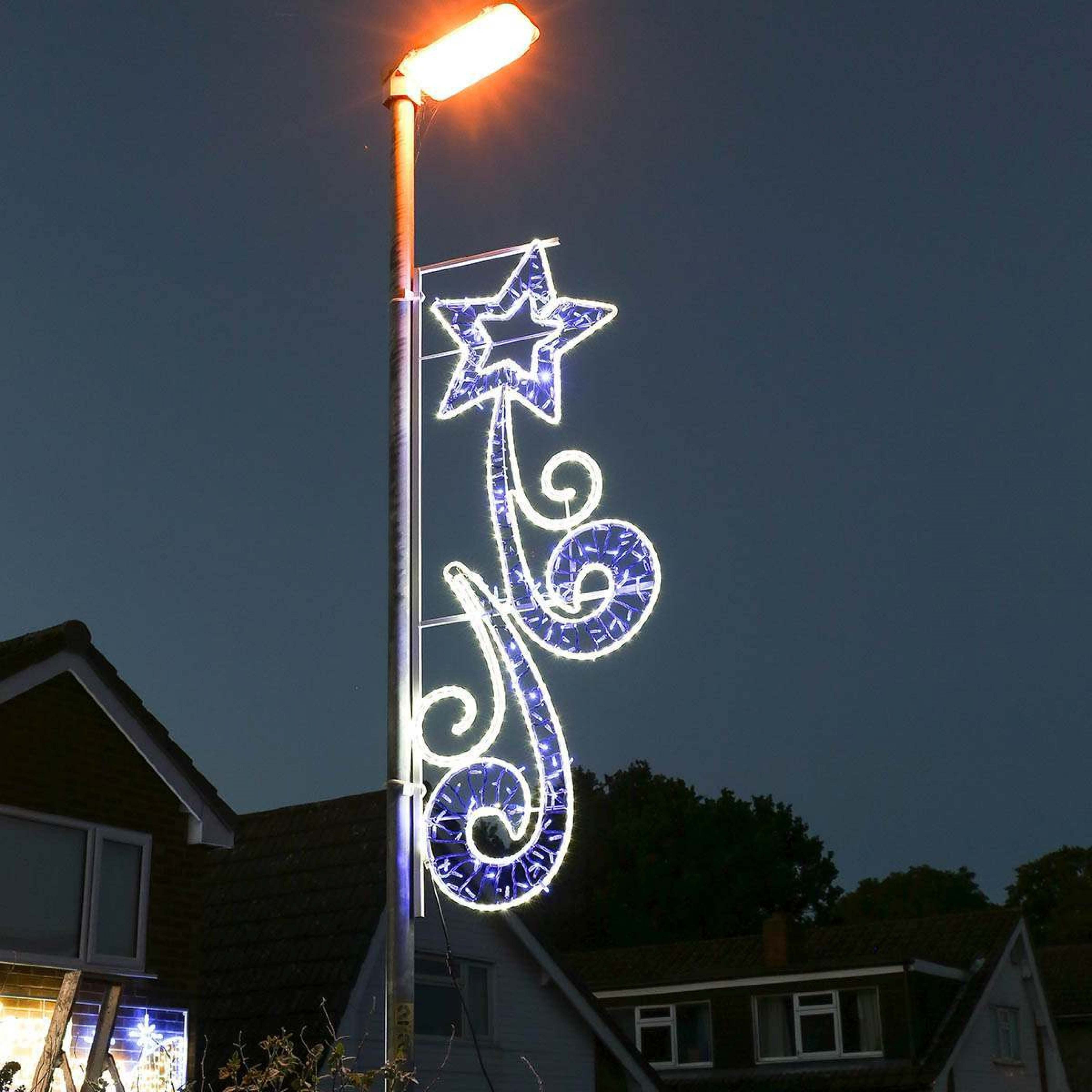 Image of: Aluminium Outdoor Rope Light Christmas Shooting Star Motif In Sign Lights Outdoor Sign Lights Outdoor Ideas