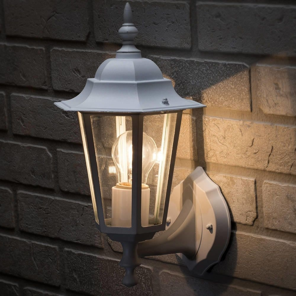 Image of: Arun 1 Light Outdoor Wall Light White From Litecraft Throughout Traditional Outdoor Wall Lights Nice Ideas For Traditional Outdoor Wall Lights