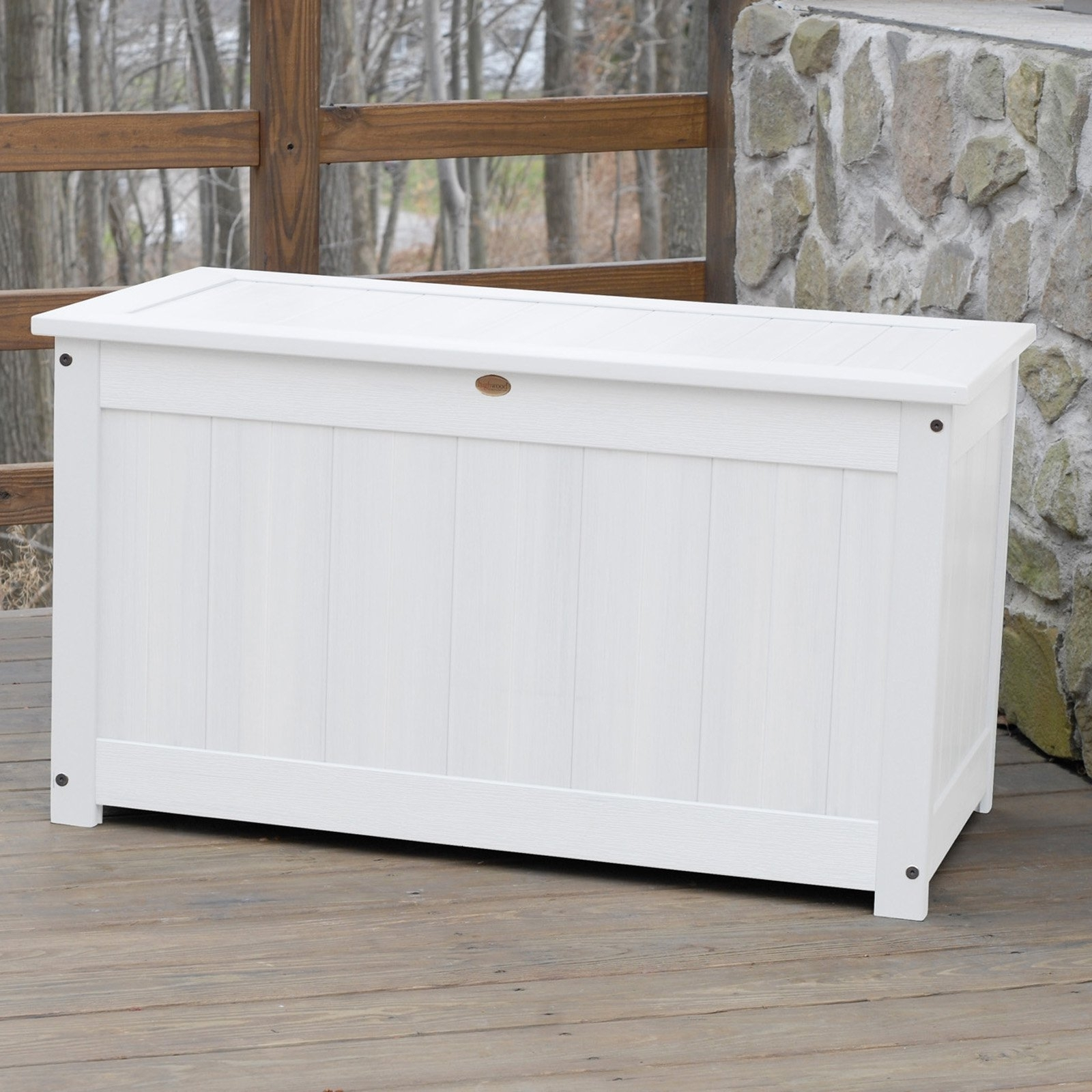 Image of: Belham Living Brighton Beach 48 In Outdoor Storage Deck Box With Pertaining To Outdoor Cushion Storage Bench Classic Outdoor Cushion Storage Bench