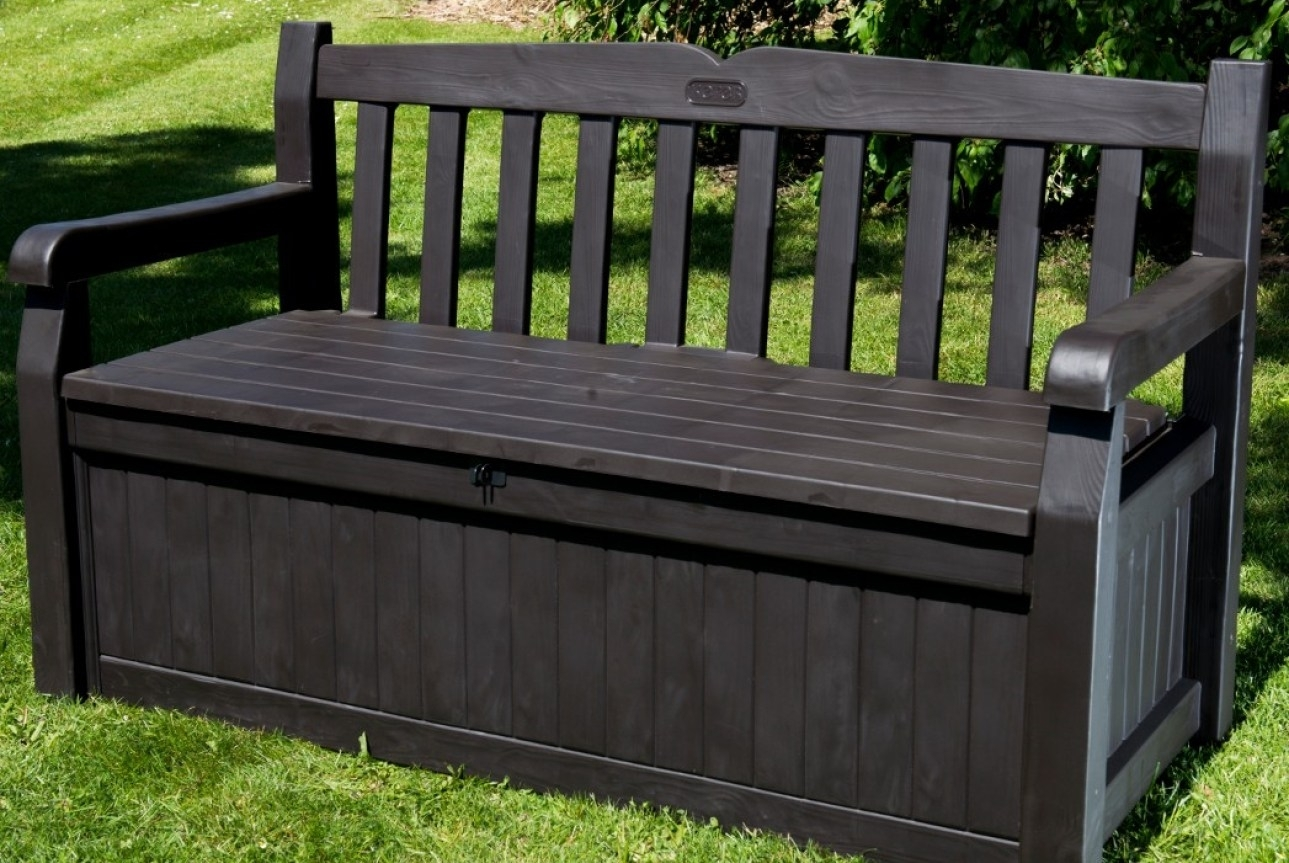 Image of: Bench Endearing Black Garden Storage Bench Rare Black Outdoor Inside Storage For Outdoor Cushions Store Storage For Outdoor Cushions