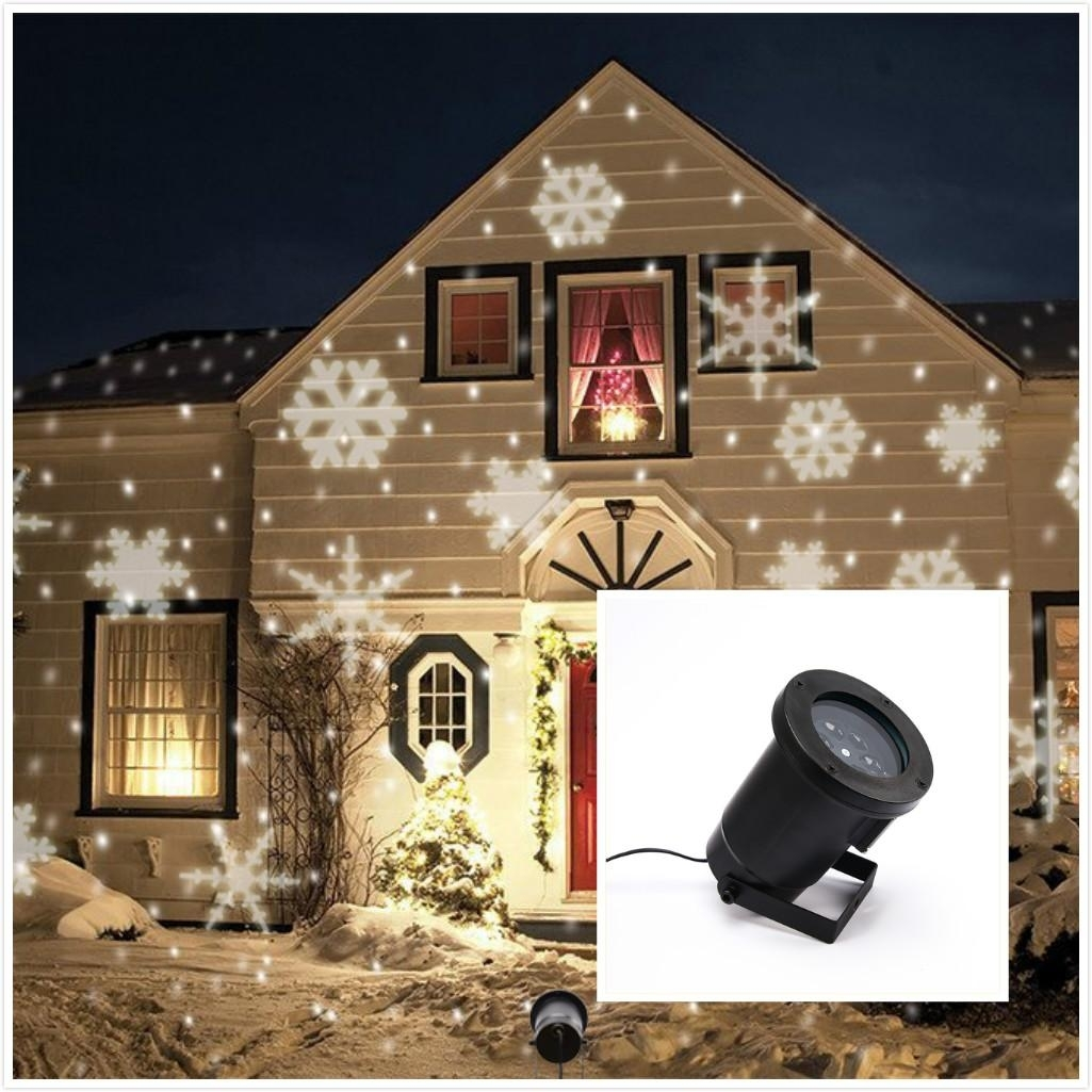 Image of: Brand New Ip66 Outdoor Waterproof Led Laser Light Christmas White Regarding Landscape Laser Lights Landscape Laser Lights Ideas