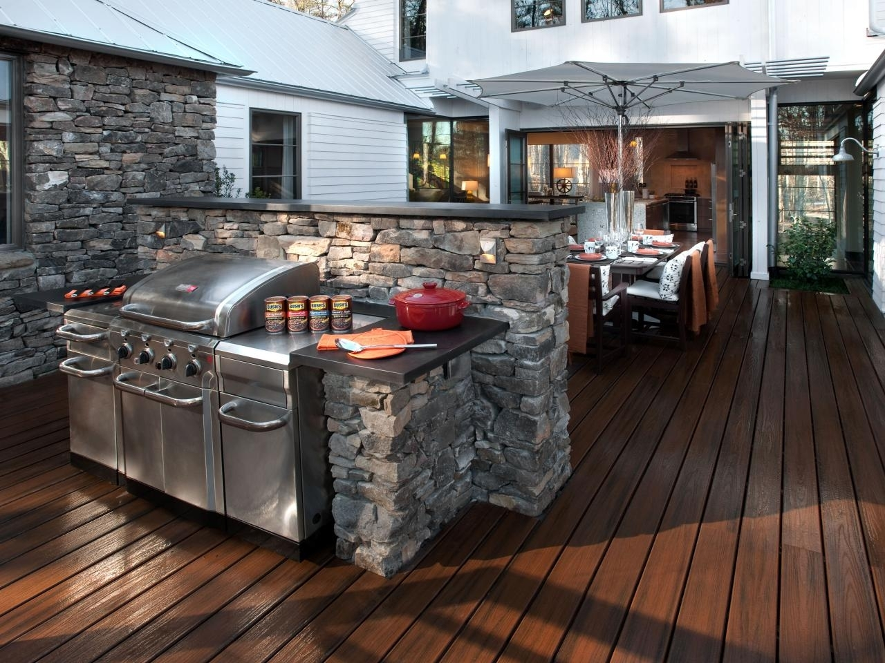 Image of: Cheap Outdoor Kitchen Ideas Hgtv With Outdoor Deck Kitchens Outdoor Deck Kitchens Perfect For All Family