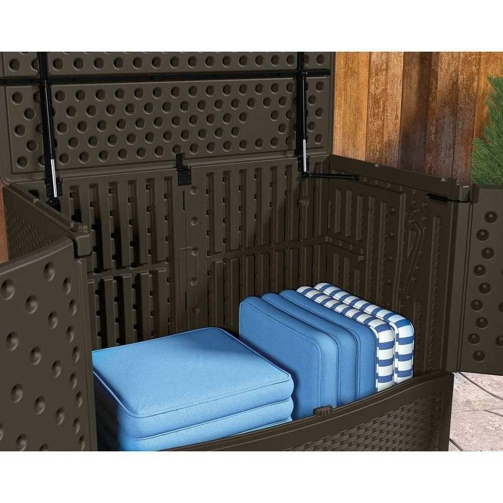 Image of: Deck Design Charming Outdoor Cushion Storage Bench Top Types Of Within Outdoor Cushion Storage Bench Classic Outdoor Cushion Storage Bench