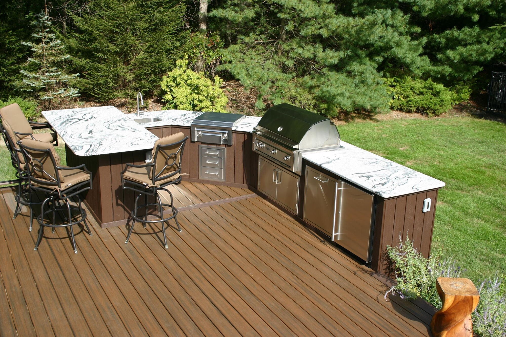 Image of: Designing Outdoor Kitchens Professional Deck Builder Outdoor Within Outdoor Deck Kitchens Outdoor Deck Kitchens Perfect For All Family