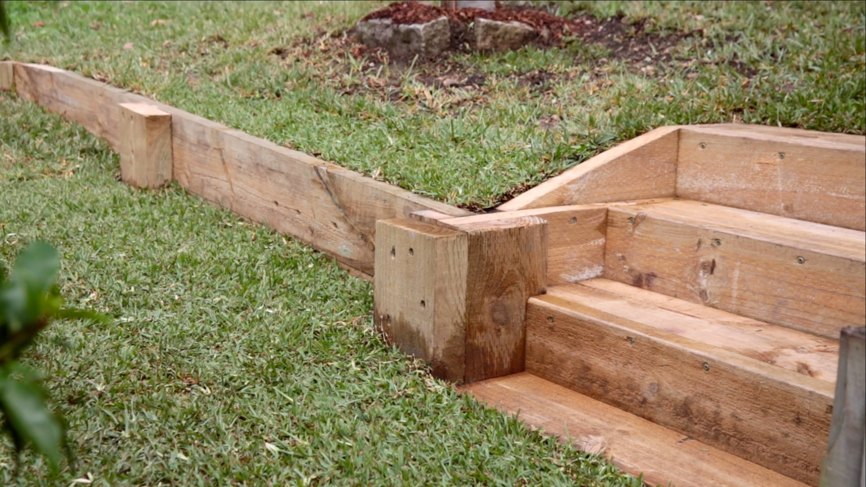 Image of: Easy Diy Retaining Wall Youtube For Landscape Timbers Retaining Wall Durable Landscape Timbers Retaining Wall For Great Decoration
