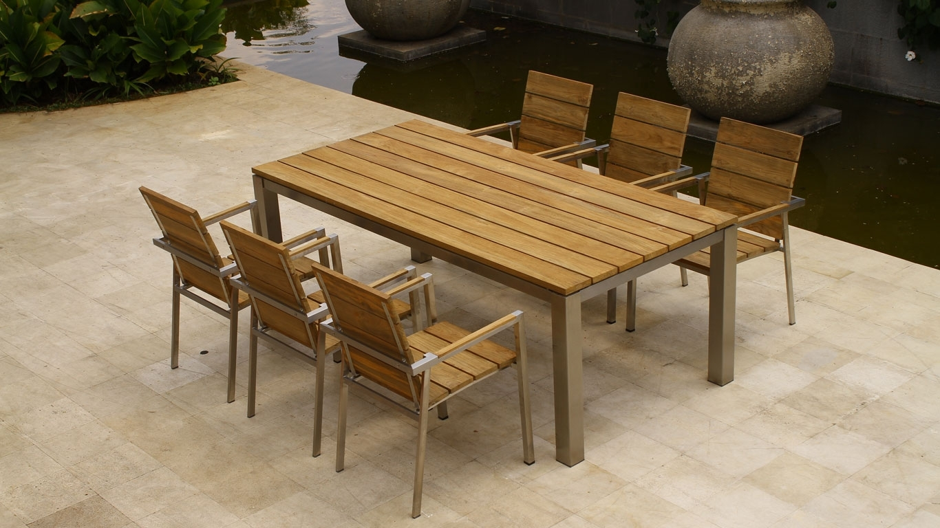Image of: Furniture Adorable Description About Modern Outdoor Dining Sets Within Modern Teak Outdoor Furniture How To Care Modern Teak Outdoor Furniture
