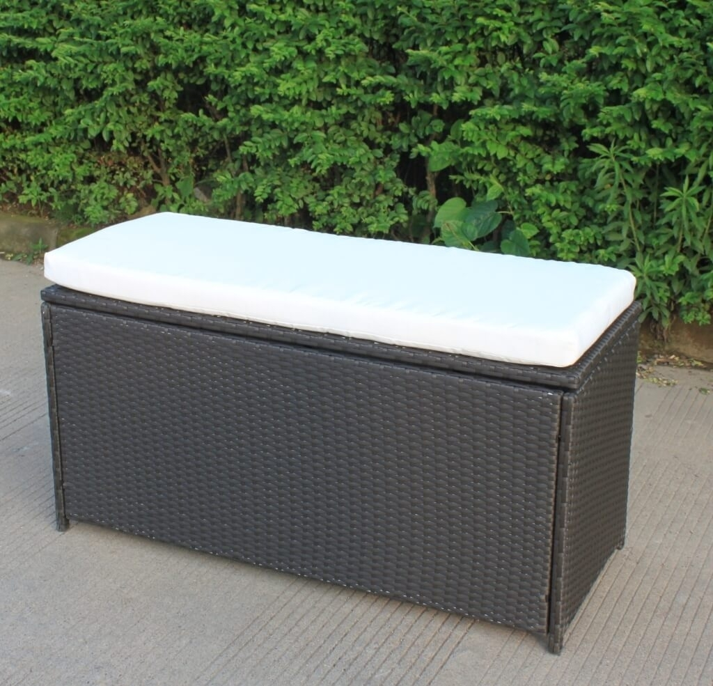 Image of: Furniture Distinctive Outdoor Storage Bench Box With Cushions Pertaining To Storage For Outdoor Cushions Store Storage For Outdoor Cushions