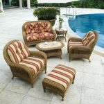 Furniture Wicker Chaise Lounge With White Cushion Sunbrella Inside Outdoor Wicker Furniture Cushions Warmth Outdoor Wicker Furniture Cushions
