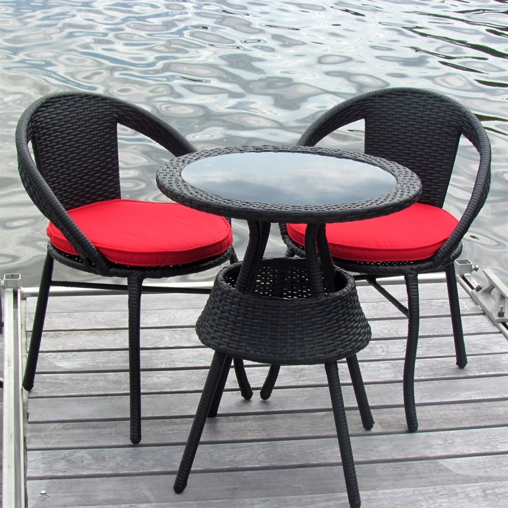 Image of: Furniture Wonderful Lowes Bistro Set For Patio Furniture Idea Regarding Outdoor Round Bistro Cushions Outdoor Round Bistro Cushions